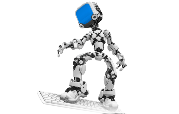 robot with keyboard